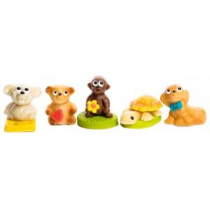 Zvířecí sortiment (5 druhů) – baleno v sáčku - marcipánová figurka - marcipán