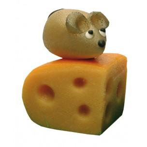 Myš na sýrovém rožku – baleno v sáčku - marcipánová zvířátka - marcipán
