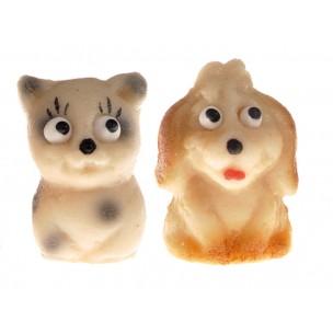 Kočička a pejsek - baleno v sáč. (1 sáček / 2 druhy) - marcipánová zvířátka - marcipán