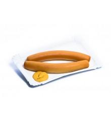 Párky s hořčicí - marcipánová figurka - pravý marcipán z mandlí