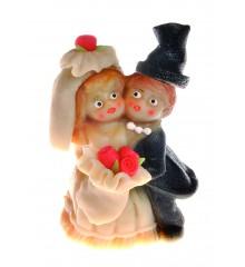Velký svatební pár – baleno v sáčku - marcipánová figurka - pravý marcipán z mandlí