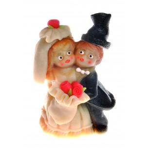Velký svatební pár – baleno v sáčku - marcipánové figurky na svatební dort - marcipán