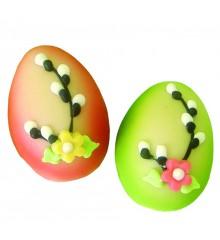 Vajíčko (2 barvy) – baleno ve smršť.folii - marcipánová figurka - marcipán