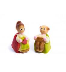 Babička a dědeček – baleno v sáčku oba druhy spolu - pravý marcipán z mandlí