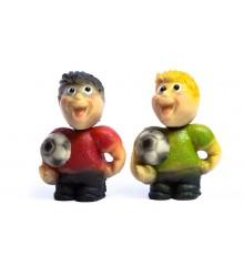 Fotbalista, 2 druhy – baleno v sáčku - marcipánová figurka - pravý marcipán z mandlí