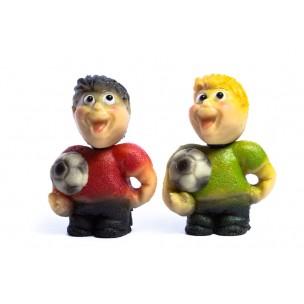 Fotbalista, 2 druhy – baleno v sáčku - marcipánová figurka - marcipán