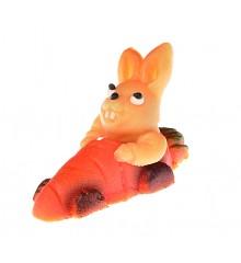 Zajíc v autě – baleno v sáčku - marcipánová figurka - pravý marcipán z mandlí