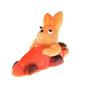 Zajíc v autě – baleno v sáčku - marcipánová figurka - marcipán