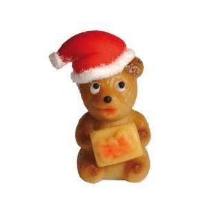 Vánoční medvídek – baleno v sáčku - marcipánová figurka - marcipán