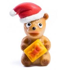 Vánoční medvídek – baleno v sáčku - marcipánová figurka - pravý marcipán z mandlí