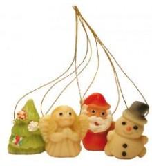 Mini vánoční ozdoby  - baleno v sáčku ( 4 druhy ) - marcipánová figurka - pravý marcipán z mandlí