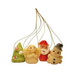 Mini vánoční ozdoby-sněhulák – baleno v sáčku - marcipánová figurka - marcipán