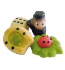 Štěstíčka (4 druhy) – baleno v sáčku - marcipánová figurka - marcipán