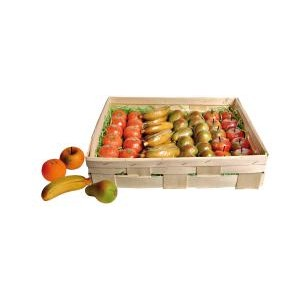 Ovoce (4 druhy, smršť.folie)  - marcipánová figurka - marcipán