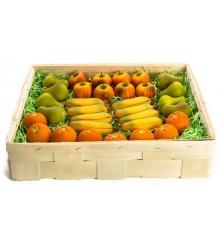 Ovoce (4 druhy, smršť.folie)  - marcipánová figurka - pravý marcipán z mandlí