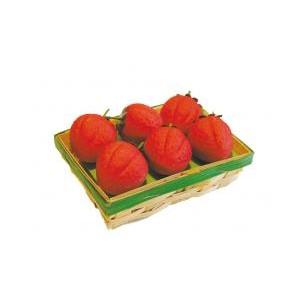 Košíček jahod - marcipánová figurka - marcipán