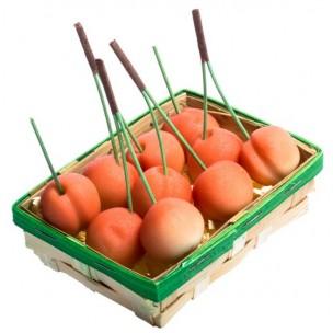 Košíček třešní - marcipánové ovoce - marcipán