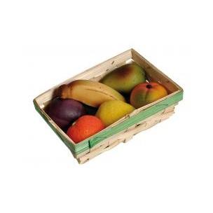 Košík ovoce - marcipánová figurka - marcipán
