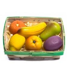 Košík ovoce - marcipánová figurka - pravý marcipán z mandlí