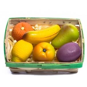 Košík ovoce - marcipánová figurka - marcipánové ovoce - marcipán