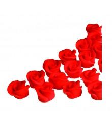 Minirůže (18 ks v průhledné krabičce) - marcipánová figurka - pravý marcipán z mandlí