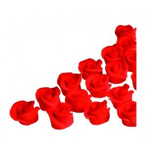 Minirůže (18 ks v průhledné krabičce) - marcipánové figurky na svatební dort - marcipán