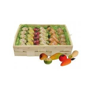 Zelenina ( 6 druhů) - marcipánová figurka - marcipán