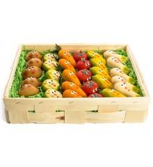 Zelenina ( 6 druhů) - marcipánová figurka - pravý marcipán z mandlí