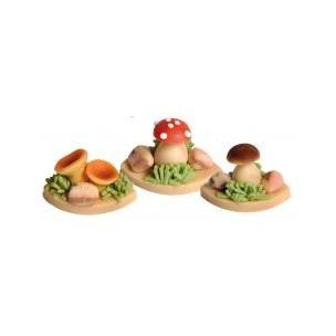 Lesní houby (3 druhy) – baleno v sáčku - marcipán