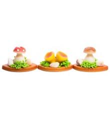 Lesní houby (3 druhy) – baleno v sáčku - pravý marcipán z mandlí