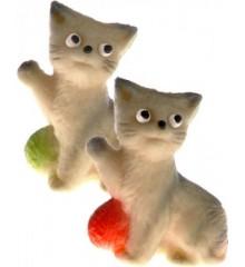 Hrající si kočička (2 barvy) – baleno v sáčku - marcipánová figurka - pravý marcipán z mandlí