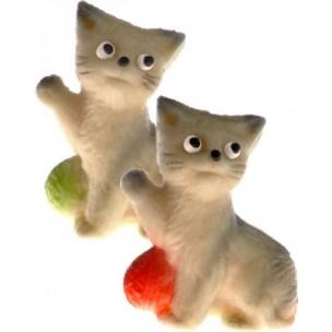 Hrající si kočička (2 barvy) – baleno v sáčku - marcipánová zvířátka - marcipán