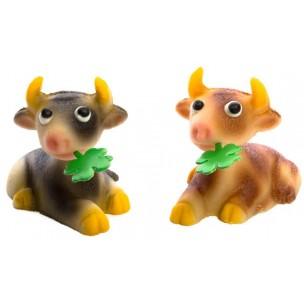 Kráva – baleno v sáčku - marcipánová figurka - marcipán