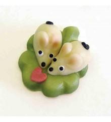 Zamilované myšky – baleno v sáčku - marcipánové figurky na svatební dort
