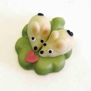 Zamilované myšky – baleno v sáčku - marcipánové figurky na svatební dort - marcipán