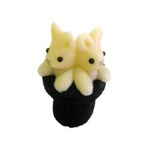Zajíci v cylindru – baleno v sáčku - marcipánová zvířátka - marcipán