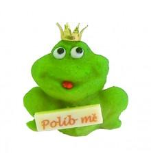 """Žába """"Polib mě"""" – baleno v sáčku - marcipánová figurka - pravý marcipán z mandlí"""