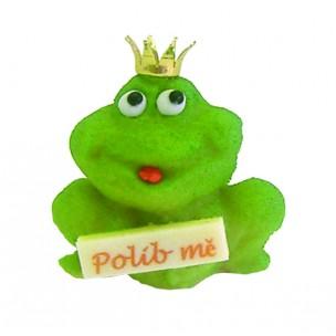 """Žába """"Polib mě"""" – baleno v sáčku - marcipánové figurky na svatební dort - marcipán"""