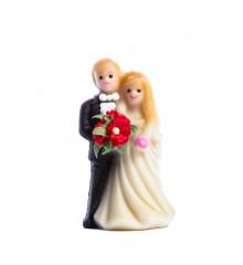Svatební pár – baleno v sáčku - marcipánová figurka - pravý marcipán z mandlí