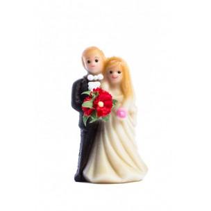 Svatební pár – marcipánové figurky na svatební dort - marcipán