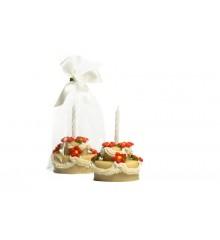 Dort se svíčkou - baleno v sáčku - marcipánová figurka - pravý marcipán z mandlí