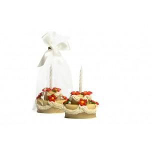 Dort se svíčkou bílý- baleno v sáčku - marcipánová figurka - marcipán