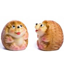 Ježek - baleno v sáčku s mašlí z organzy - marcipánová figurka - pravý marcipán z mandlí