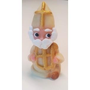 Mikuláš bílý se zlatým křížem - marcipánová figurka - baleno v sáčku - marcipán
