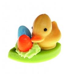 Housátko s vajíčky – baleno v sáčku - marcipánová figurka - marcipán