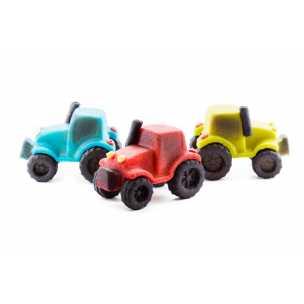 Traktor červený - marcipán