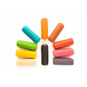 Barevné cihličky marcipánu 10 barev 1Kg - marcipán