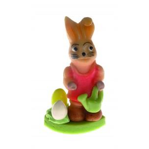 Zajíc s konví – baleno v sáčku - marcipánová figurka - marcipán