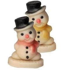 Sněhulák – baleno v sáčku - marcipánová figurka - pravý marcipán z mandlí
