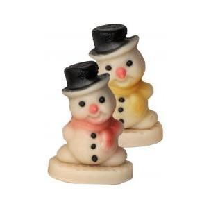 Sněhulák – baleno v sáčku - marcipánová figurka - marcipán